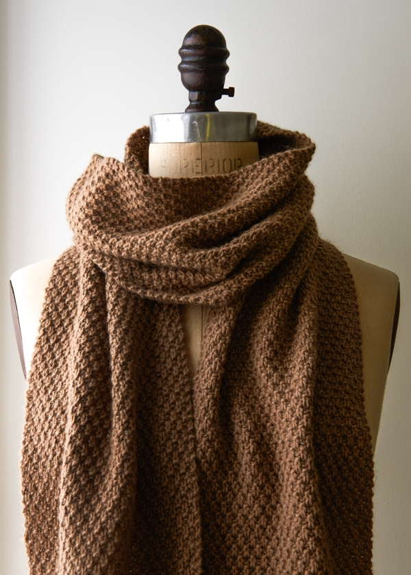 Double Seed Stitch Scarf Purl Soho