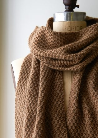 Knitting Pattern For Seed Stitch Scarf : Double Seed Stitch Scarf Purl Soho