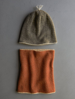 Reversible Hat + Reversible Cowl in New Colors | Purl Soho