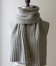 Mistake Rib Scarf in Cashmere Merino Bloom | Purl Soho
