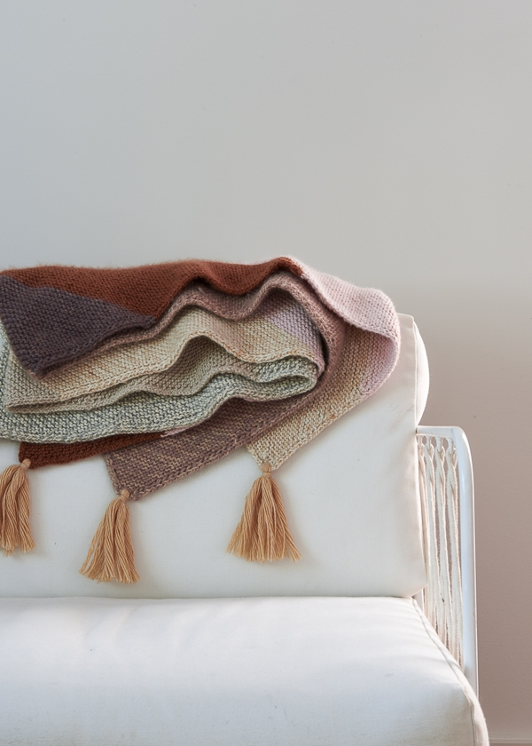 Rectangular Colorblock Bias Blanket in New Colors | Purl Soho