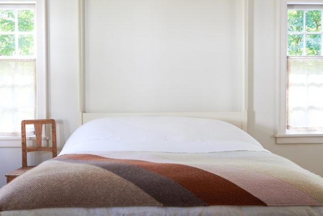 Rectangular Colorblock Bias Blanket in New Colors | Purl Soho
