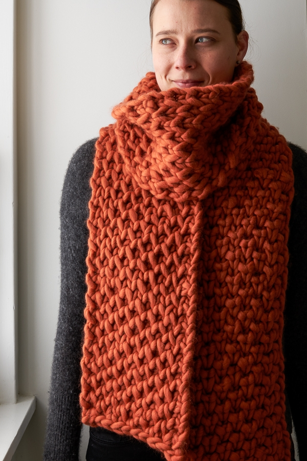 Lattice Brioche Scarf | Purl Soho