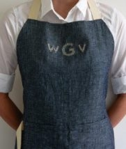 Monogrammed Simple Linen Apron | Purl Soho