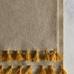Wool Wrap with Silk Tassels