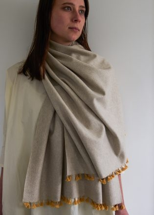 Wool Wrap with Silk Tassels | Purl Soho