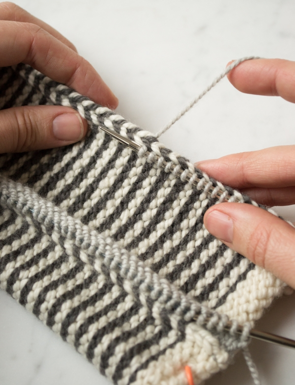 Knitting Picking Up Stitches On Cast Off Edge : Learn-to-Love-Steeks Blanket Purl Soho