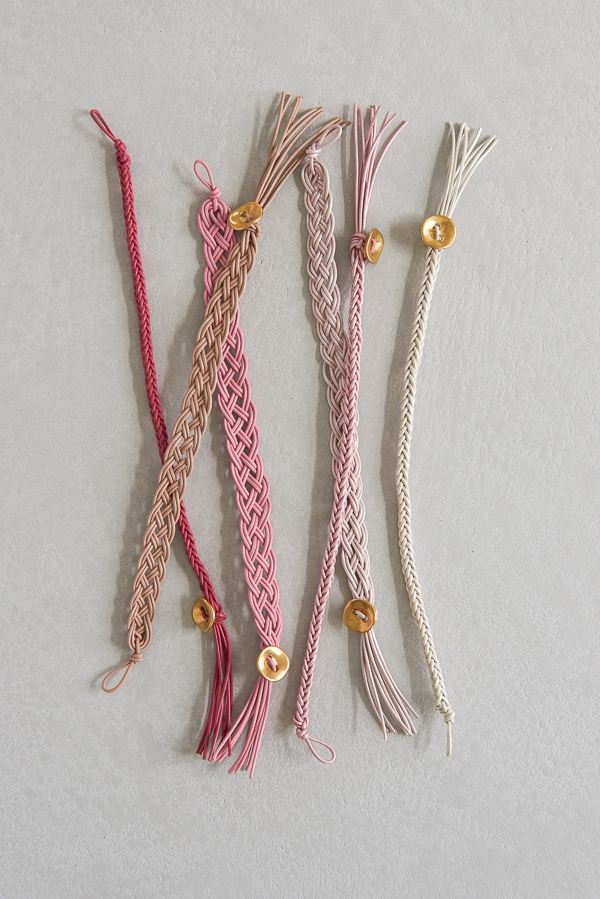 Braided Leather Bracelets For Valentineu0027s Day | Purl Soho