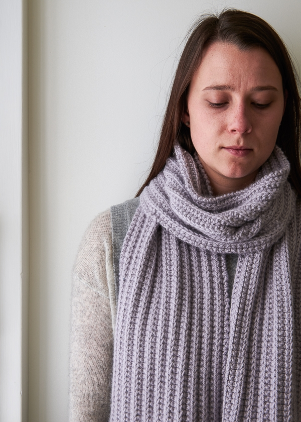 No-Purl Ribbed Scarf, Now in Lavender Opal | Purl Soho