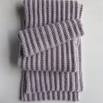 No-Purl Ribbed Scarf, Now in Lavender Opal