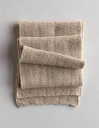 Broken Garter Scarf, Now in Wheat Flour | Purl Soho
