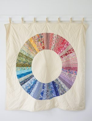 Color-Wheel Quilt in Liberty of London | Purl Soho