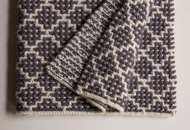 Mosaic Blanket in Trout Brown | Purl Soho