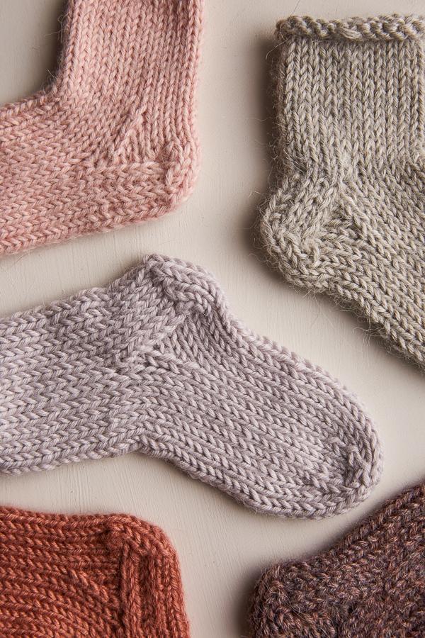 Baby Sock Knitting Pattern In Season Alpaca Our Sport Weight Yarn