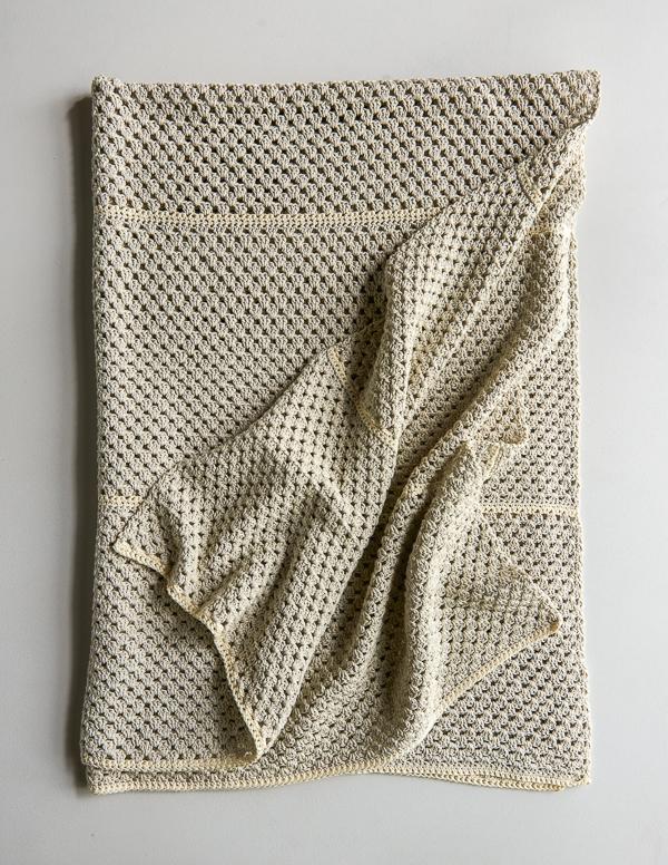 Granny Stripe Blanket In Cotton Pure Purl Soho