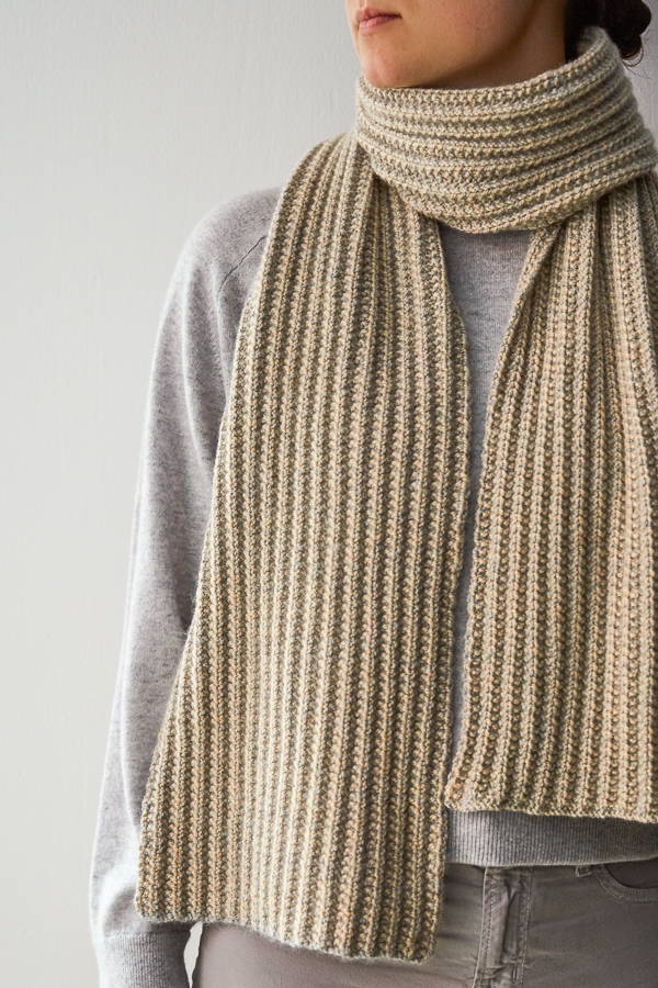 1bc84c0a79ee Two-Tone Mistake Rib Scarf | Free Knitting Pattern by Purl Soho