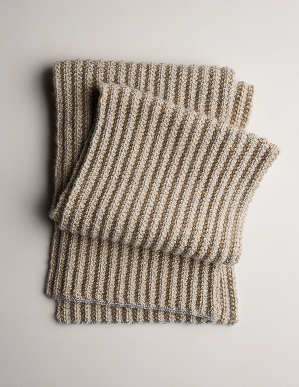 Two-Tone Mistake Rib Scarf Free Knitting Pattern by Purl ...