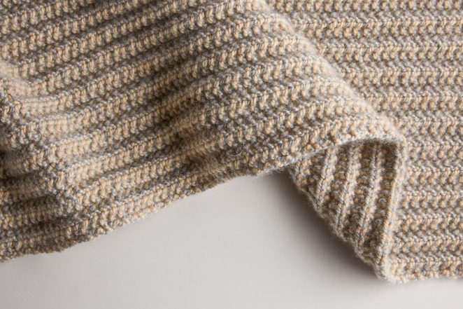 Two Tone Mistake Rib Scarf Free Knitting Pattern By Purl Soho