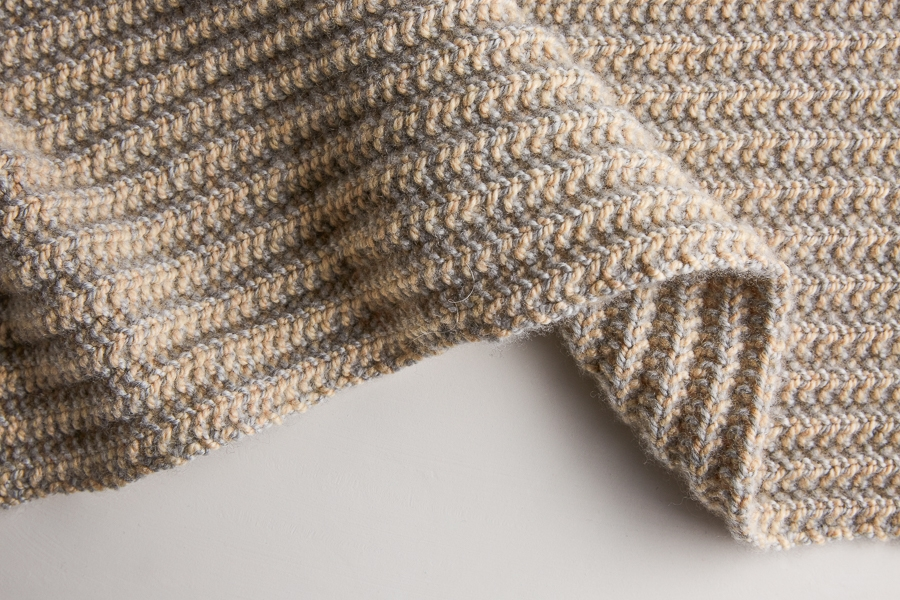 356c7cf83b69 And that's when the real magic happens! Two-Tone Mistake Rib Scarf | Purl  Soho