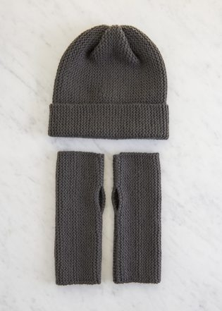 Simple Hand Warmers + Hat in New Colors | Purl Soho