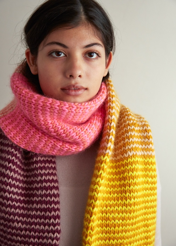 Stripey Tube Scarf Knitting Pattern By Purl Soho