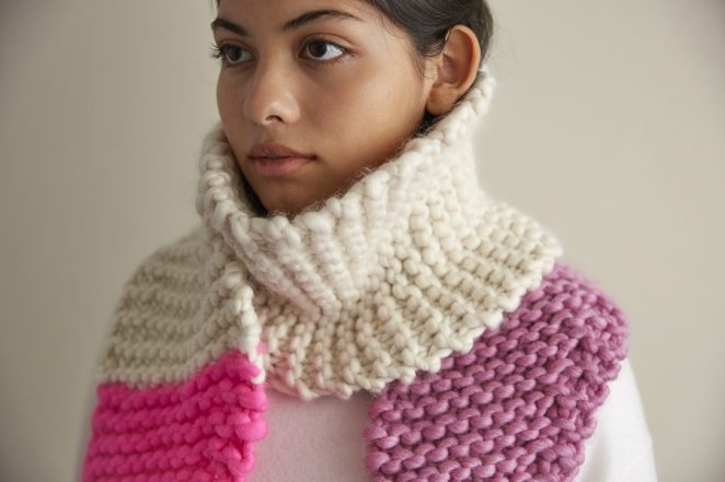Color Tipped Scarf in Gentle Giant | Purl Soho
