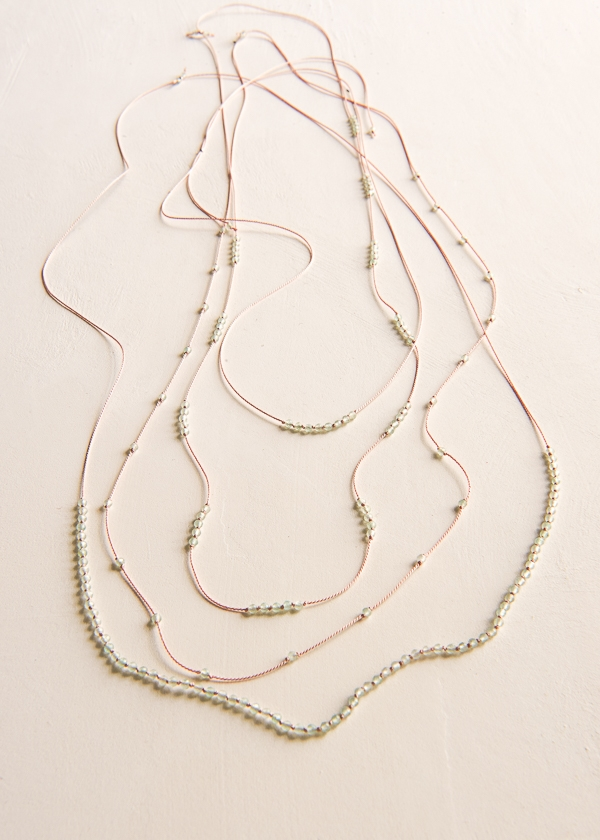 Gemstones + Knots Necklaces | Purl Soho