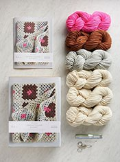 Granny Square Blanket Kit