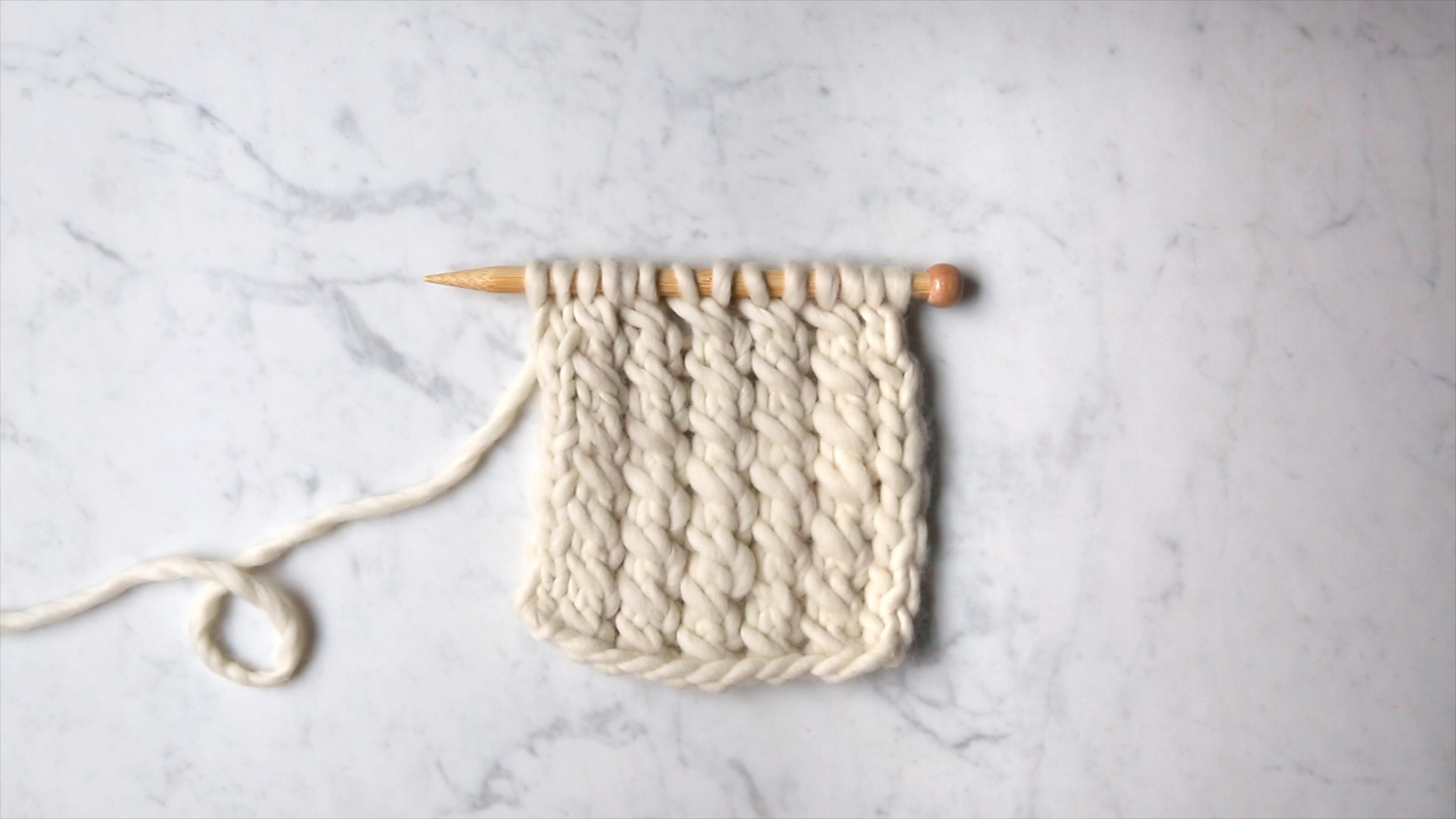 Elongated Mock Cable Stitch Purl Soho