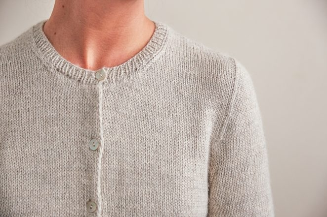 Classic Crewneck Cardigan Knitting Pattern By Purl Soho