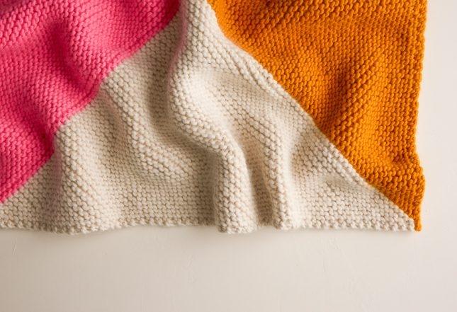 Four Points Baby Blanket In Super Soft Merino Free Knitting