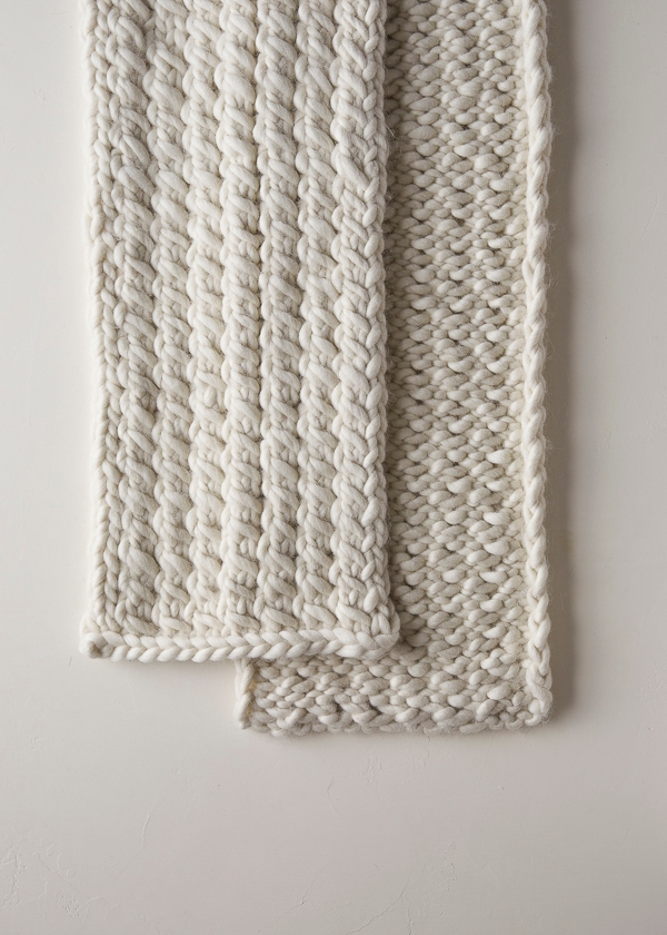 Snow Tracks Scarf Free Knitting Pattern By Purl Soho