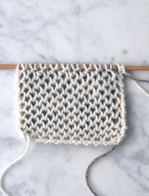 Two-Color Honeycomb Brioche | Purl Soho