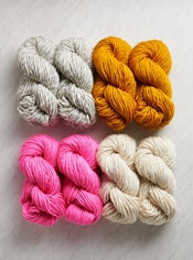 Four Points Baby Blanket in Super Soft Merino Bundle