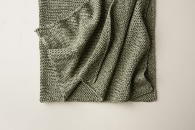 Diagonal Slip Stitch Blanket | Purl Soho