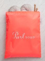 Purl Soho Zip Bag from Baggu, Electric Poppy