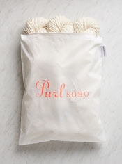 Purl Soho Zip Bag from Baggu, White