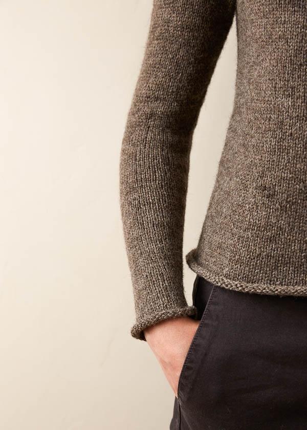 Top-Down Circular Yoke Pullover In Good Wool | Purl Soho