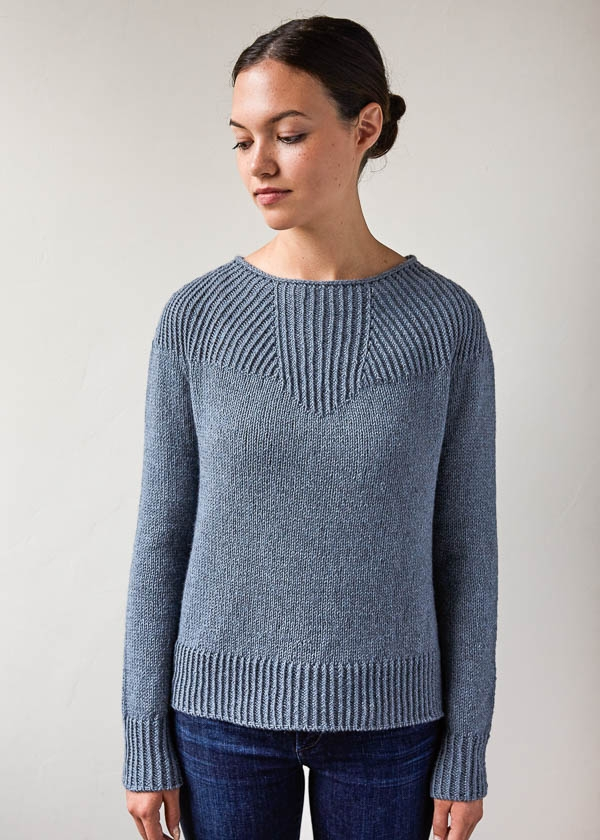 Faceted Yoke Pullover | Purl Soho