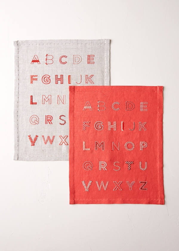 Alphabet Sampler in New Colors | Purl Soho