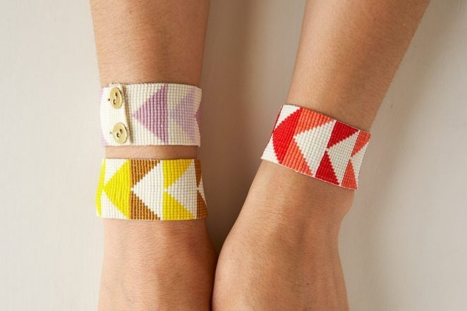 Flying Geese Beaded Cuff | Purl Soho
