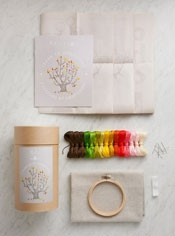 4 Seasons of Embroidery Kit