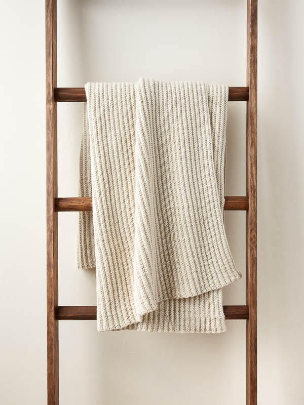 No-Purl Ribbed Blanket | Purl Soho
