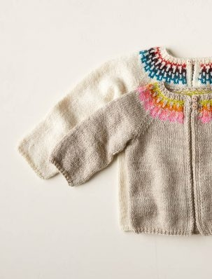 Baby Fair Isle Cardigan In Posy | Purl Soho