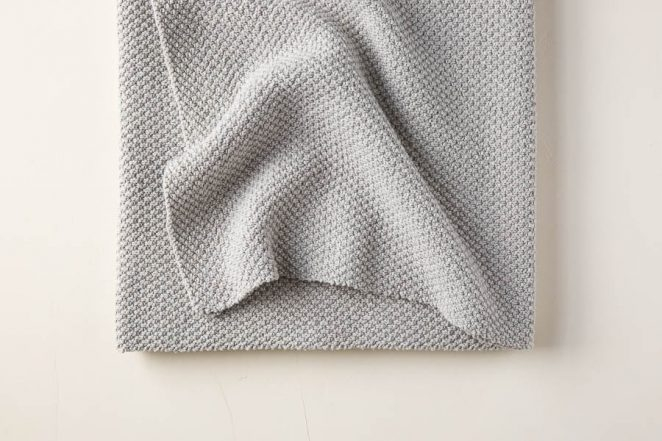 Double Seed Stitch Blanket in Cotton Pure | Purl Soho