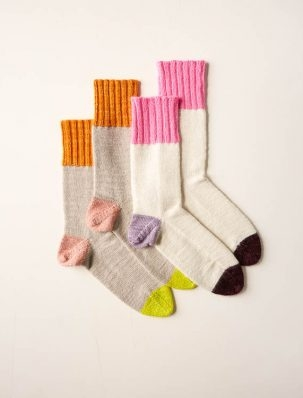 Easy Heel Colorblock Socks | Purl Soho