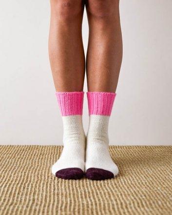 Easy Heel Colorblock Socks | Purl Soho