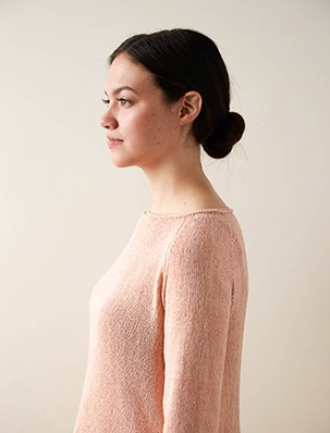 Lightweight Raglan Pullover in Cattail Silk | Purl Soho