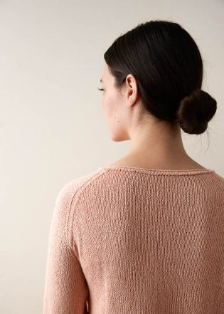 Lightweight Raglan Pullover in Cattail Silk | Purl Soho