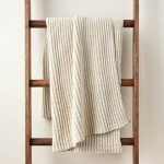 No-Purl Ribbed Blanket